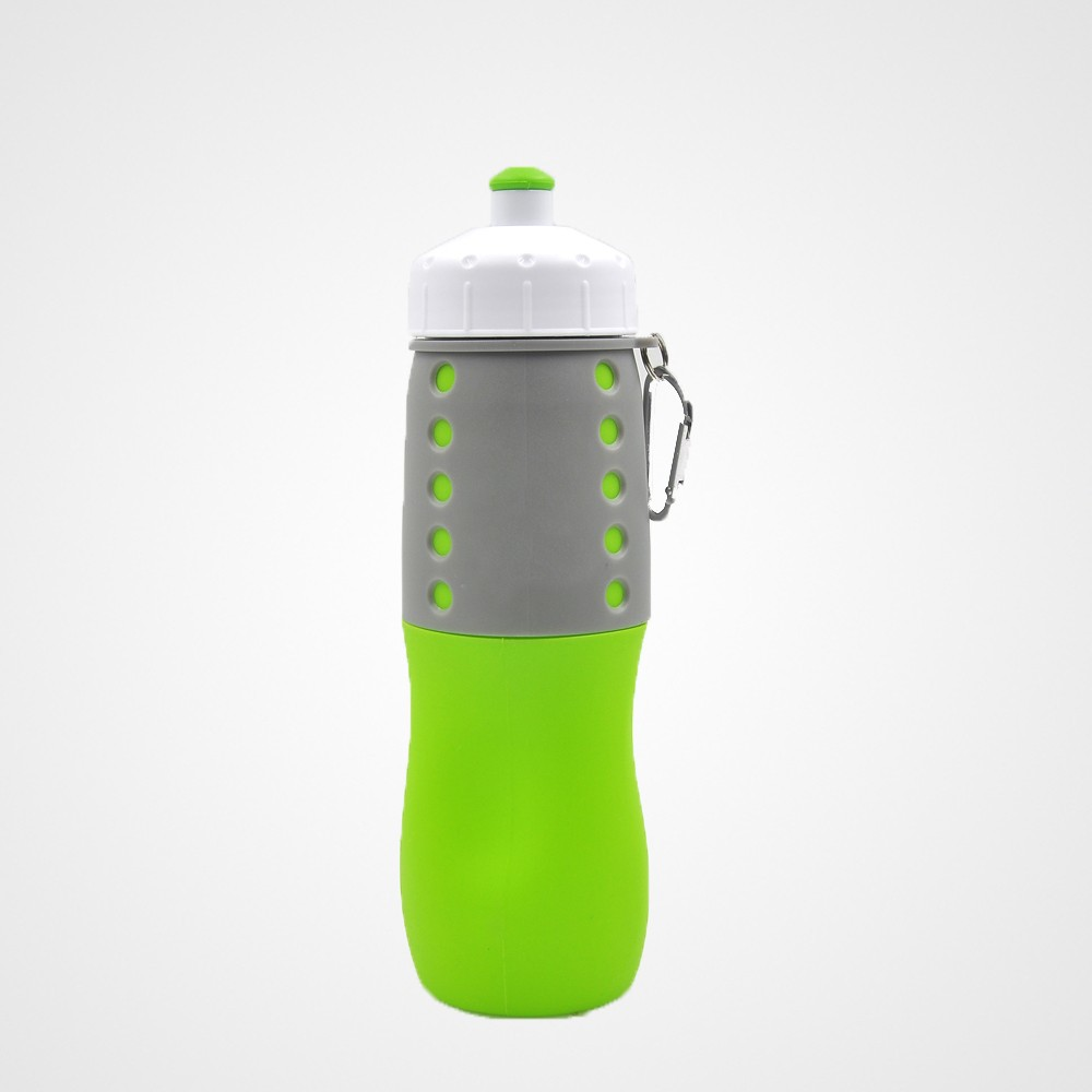 Bottledjoy Best Collapsible Foldable Silicone Bottle 650ML Green